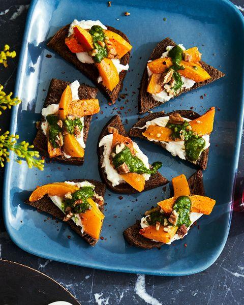 pumpkin  pesto crostini