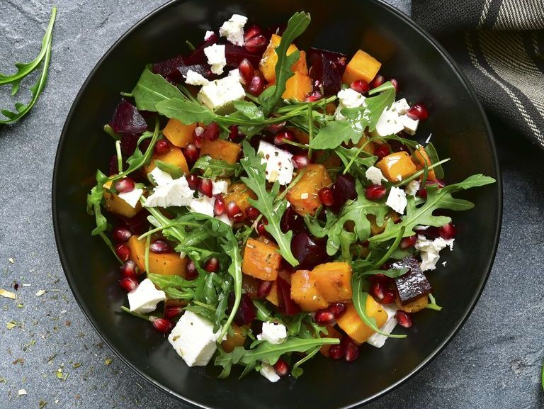 This Low-Cal Beet and Pumpkin Salad Will Show Your Sad Desk Salad the Door