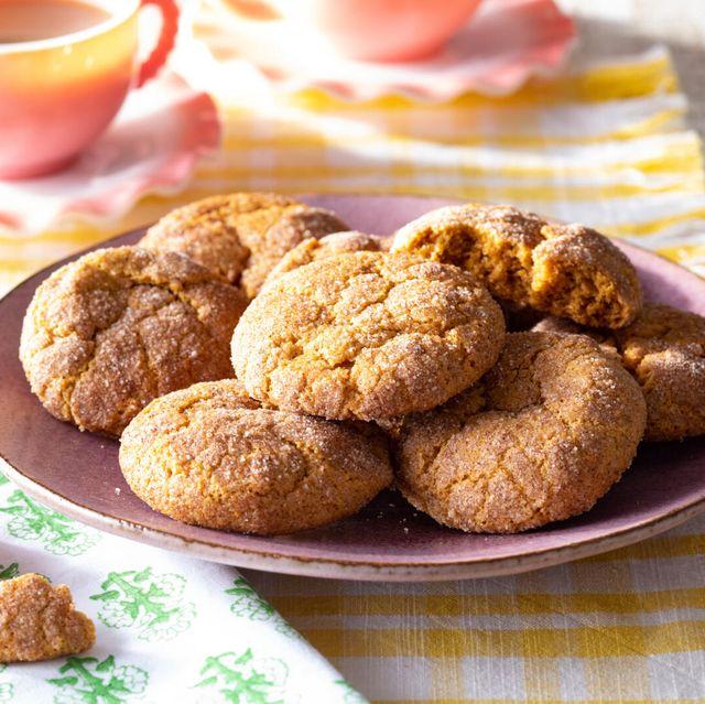 pumpkin snickerdoodles recipe with tea in background
