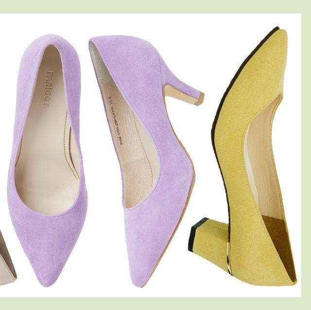 Footwear, High heels, Court shoe, Shoe, Leather, Font, Basic pump,