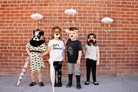 raining cats and dogs pun costume