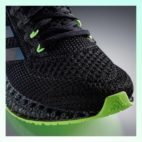 punta de zapatillas adidas 4dfwd en color negro y verde