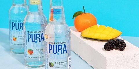 Drink, Bottle, Liqueur, Distilled beverage, Lemon-lime, Vodka and tonic, Vodka, Fruit, Liquid,