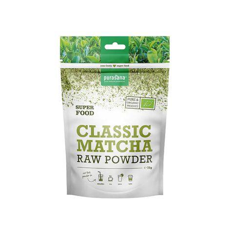 purasana classic matcha raw powder poeder groen drankje