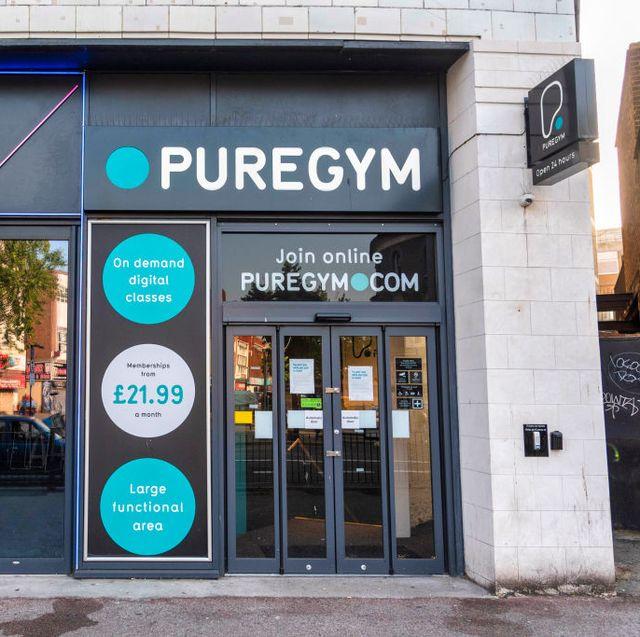 pure gym in lewisham seen with shut doors gyms  indoors