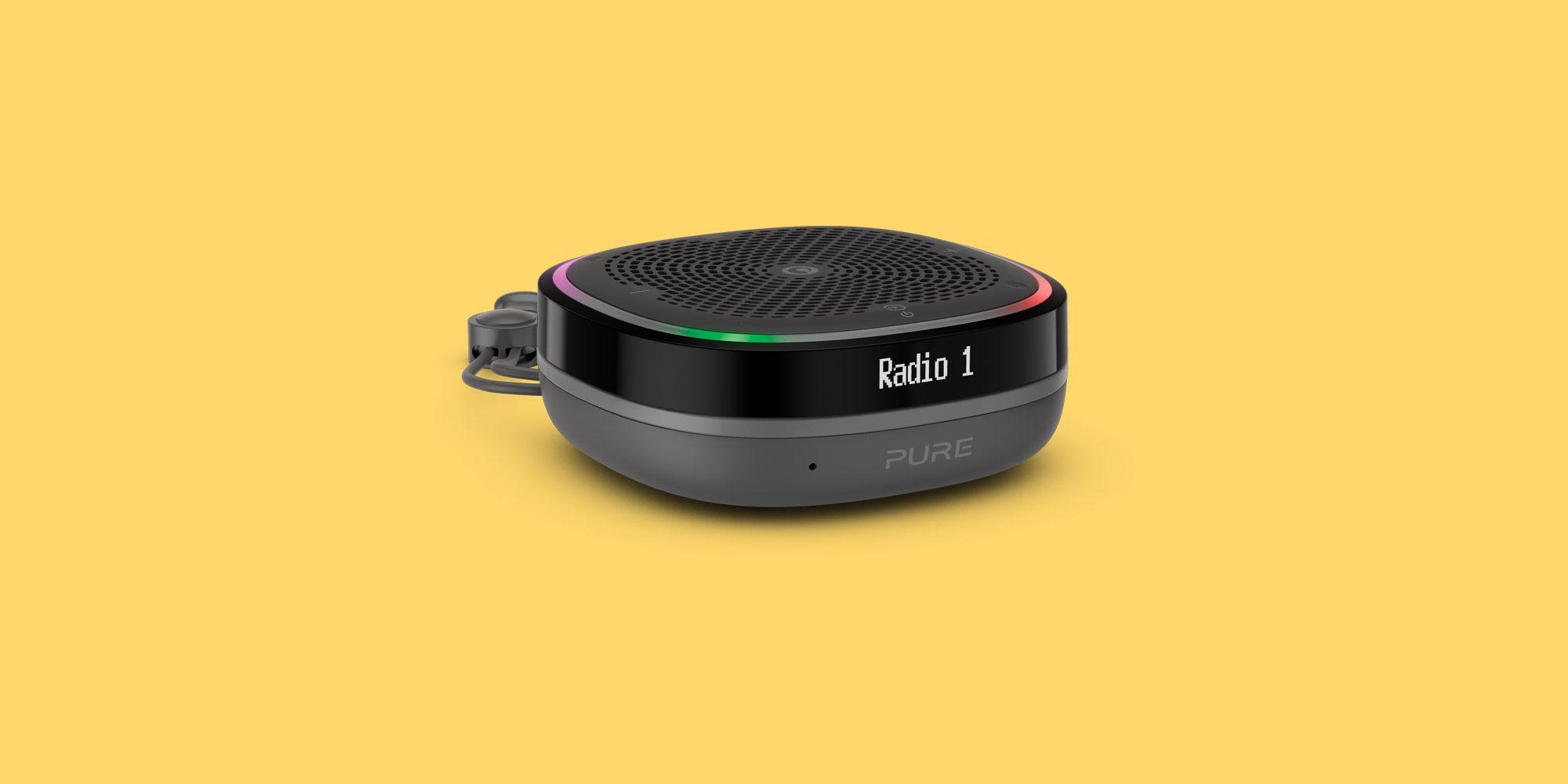 pure streamr bluetooth speaker and dab radio with amazon alexa