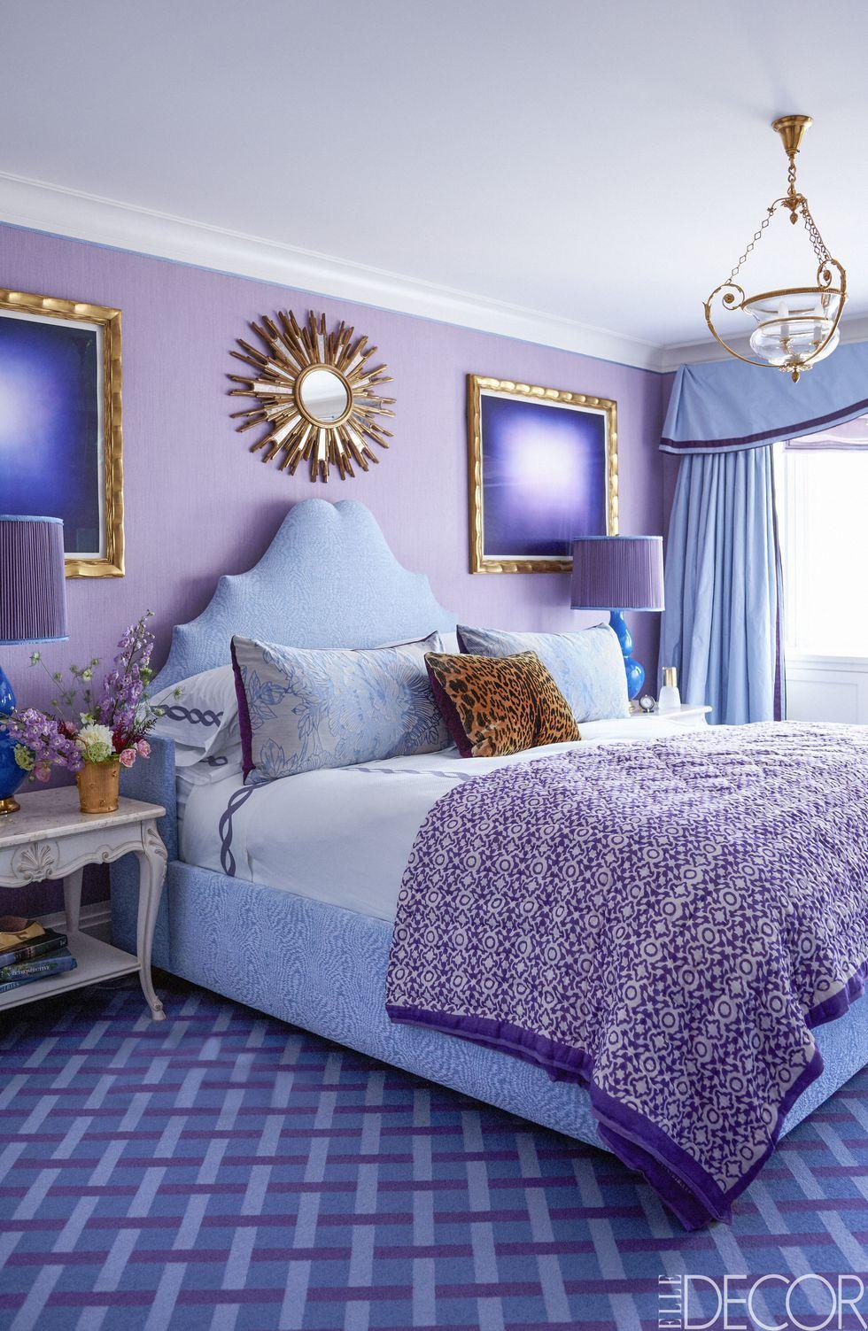 10 stylish purple bedrooms ideas for bedroom decor in purple rh elledecor com bedroom ideas purple and white bedroom ideas with purple and gray