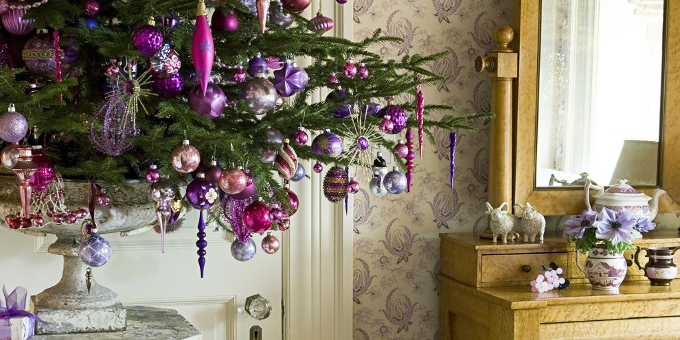 Closed For Christmas 2021 Purple Ornements Pics 13 Pretty Purple Christmas Decorations Best Purple Ornaments And Wreaths