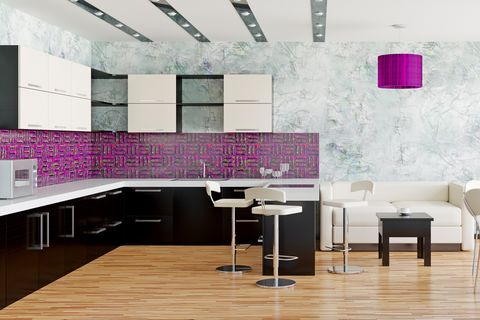 8 Chic Purple Kitchen Ideas Photos Of Kitchens With Purple Decor