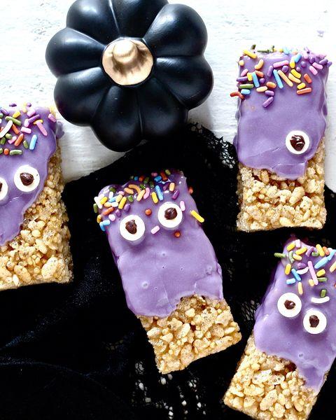 purple monster halloween desserts