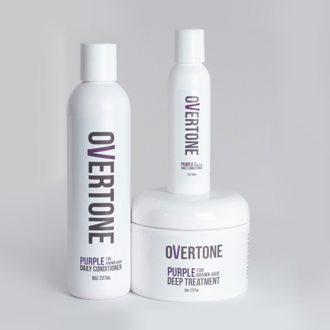 Does Overtone Haircare Actually Turn Brown Hair Purple?