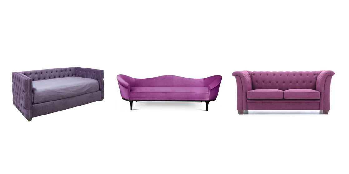 Exceptional Purple Sofas