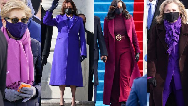 why politicians wearing purple is so significant