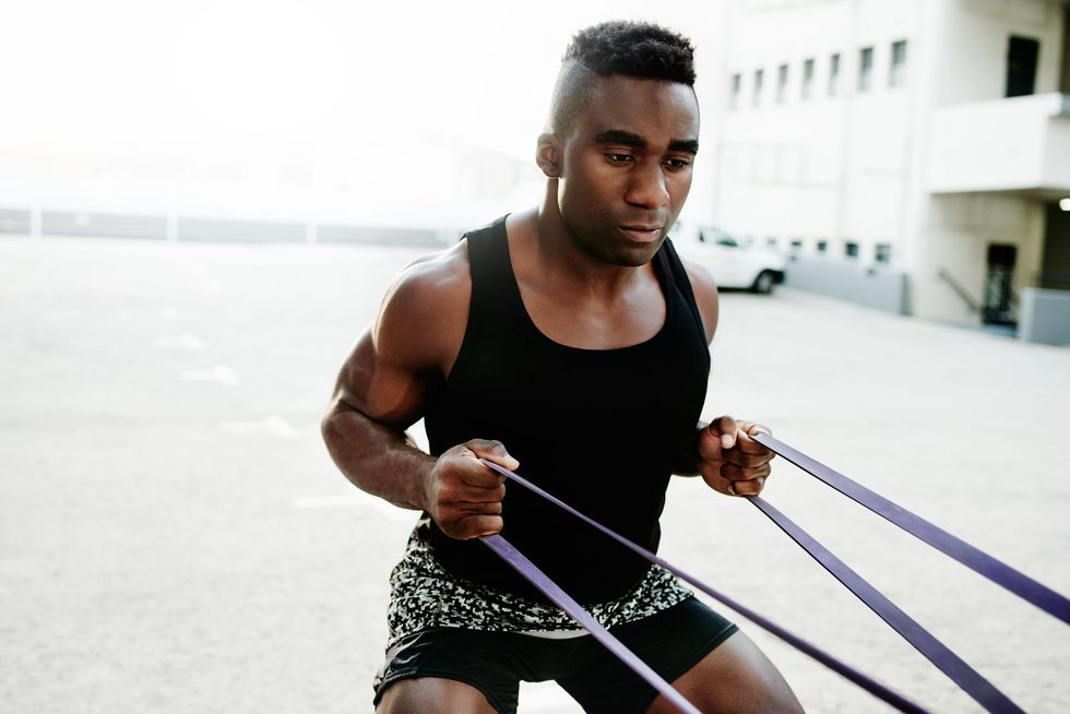 <p>55 Resistance Band Moves You Can Do at Home thumbnail