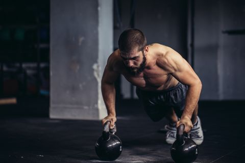 Weights, Physical fitness, Exercise equipment, Muscle, Arm, Shoulder, Chest, Kettlebell, Fitness professional, Bodybuilding,