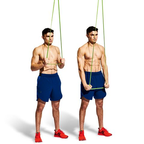 rope, standing, shoulder, muscle, shorts, barechested, physical fitness,