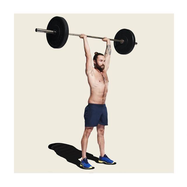 Weights, Exercise equipment, Overhead press, Barbell, Shoulder, Strength training, Physical fitness, Arm, Sports equipment, Bodypump,