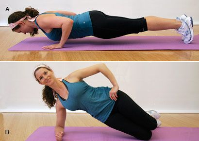 Push-up and side plank