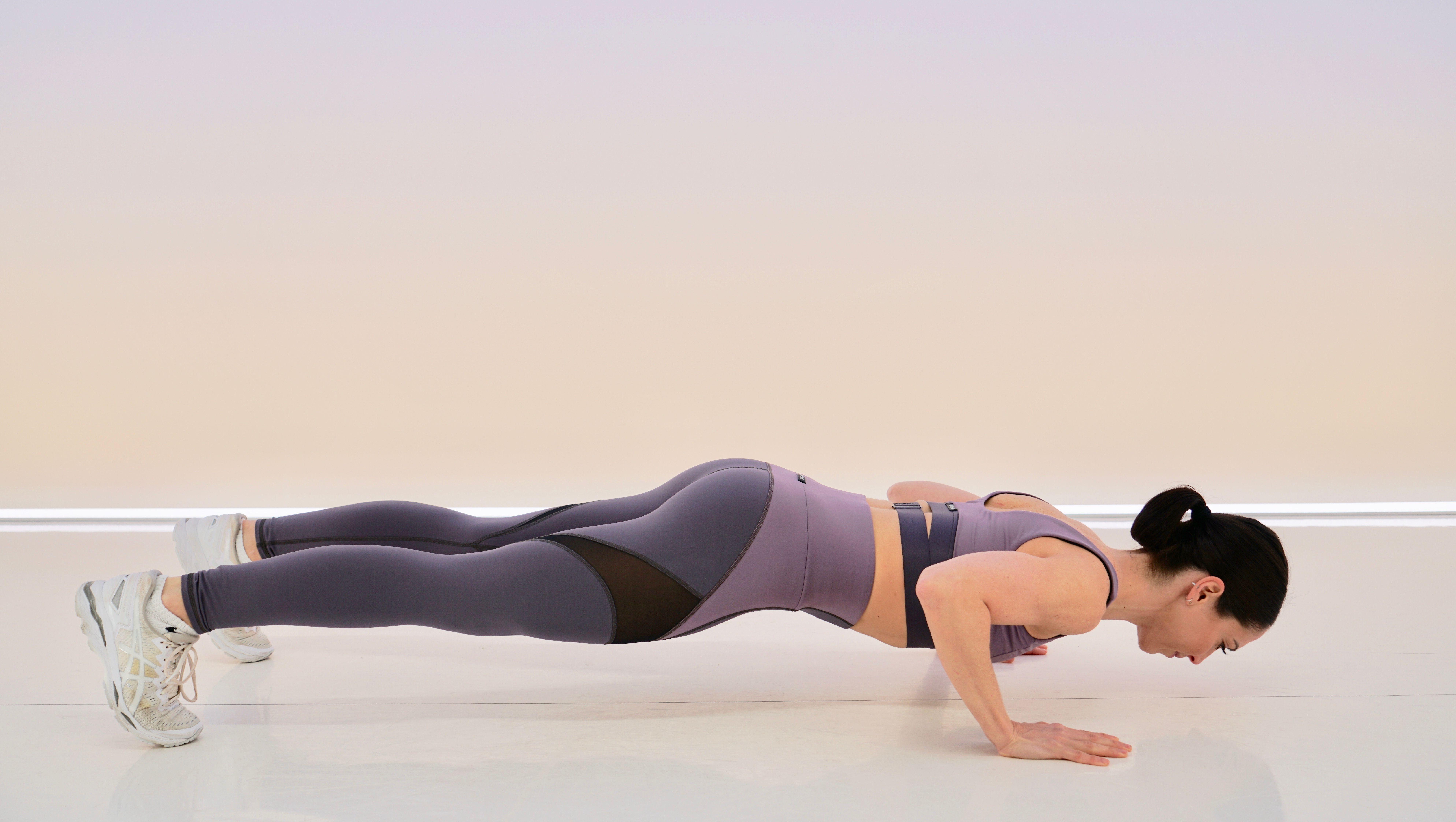 upper-body workout: push-ups
