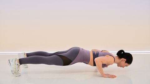 upper-body workout: push-ups