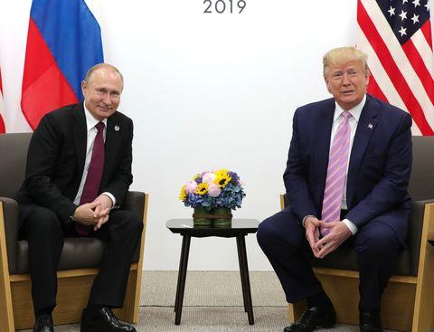 Vladimir Putin - Donald Trump meeting in Osaka