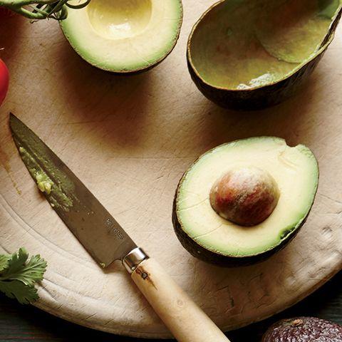 Leaf, Kitchen knife, Serveware, Kitchen utensil, Knife, Dishware, Produce, Ingredient, Cutting board, Blade,