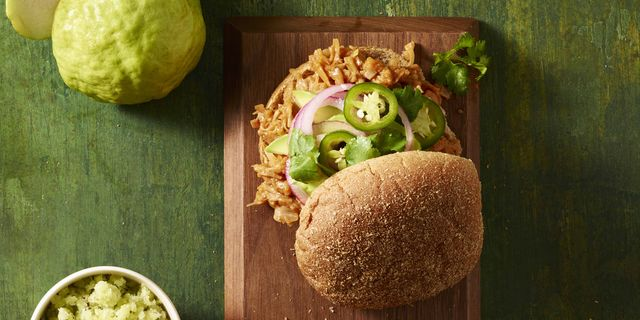 Pulled Jackfruit Sandwich With Guava Barbecue Sauce