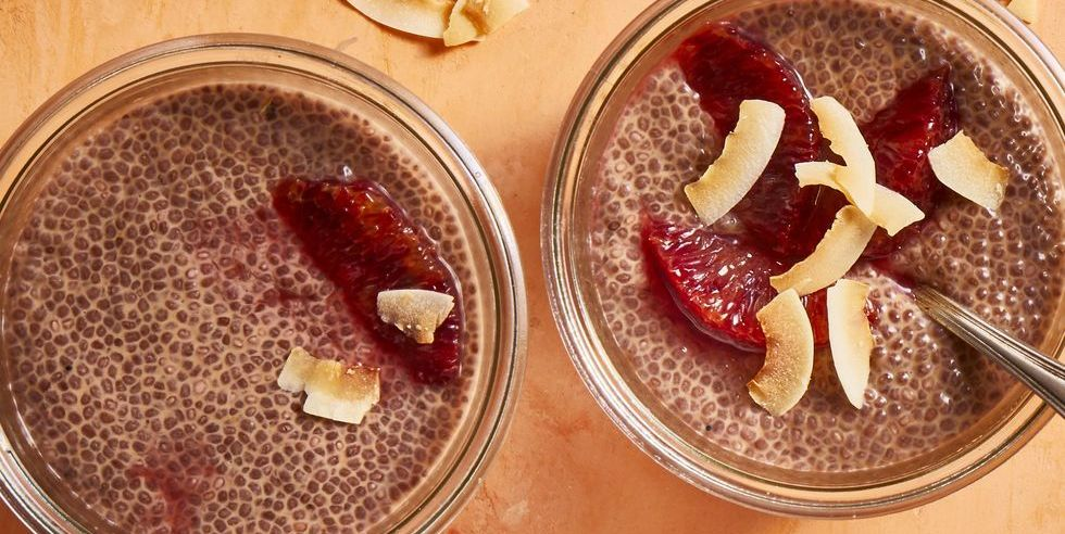 Blood Orange and Coconut Chia Pudding