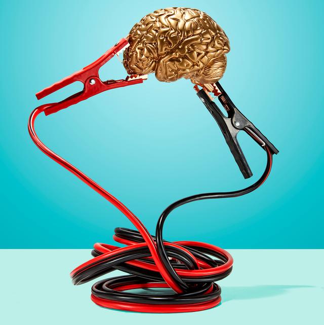 human brain lifting dumbbells