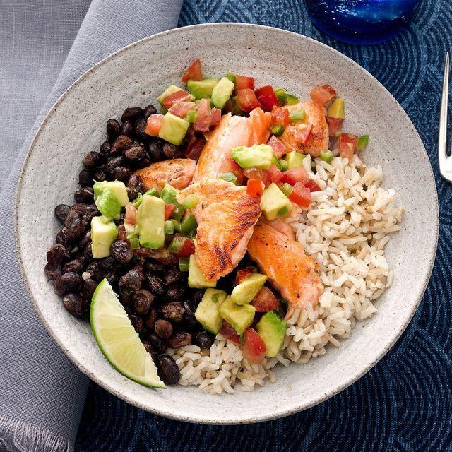 tex mex salmon bowl recipe