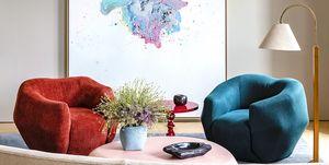 Interior designer Pierre Yovanovitch's home with curvy furniture