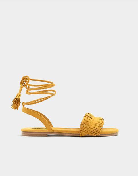 Footwear, Sandal, Yellow, Shoe, Tan, Beige, Slingback,