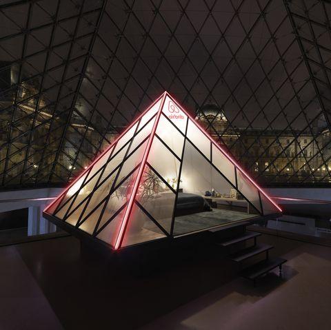 Architecture, Light, Lighting, Daylighting, Pyramid, Triangle, Sky, Design, Night, Space,