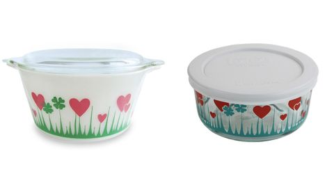 Pyrex Reissues Lucky In Love Pattern History Of Pyrex Lucky In Gorgeous Rare Pyrex Patterns