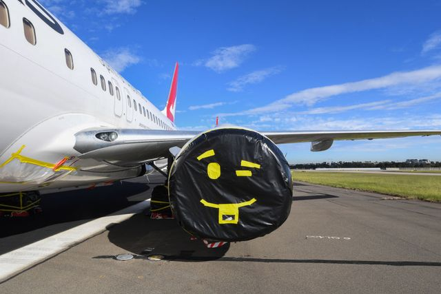sydney runway turned into aircraft parking lot due to coronavirus travel restrictions