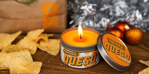 Qdoba queso candle