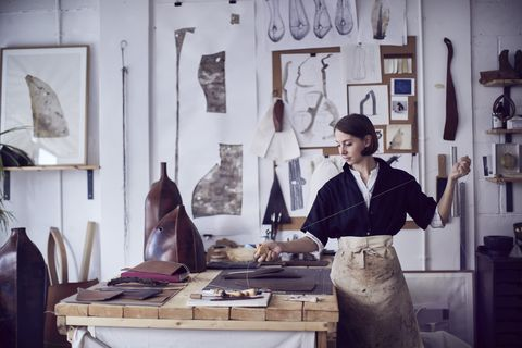 in the studio of frances pinnock photographed by alun callender