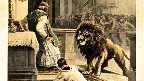persprint van leeuw in kerk van sittard
