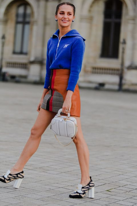 Street fashion, Clothing, Footwear, Electric blue, Cobalt blue, Fashion, Blue, Human leg, Leg, Shoe,