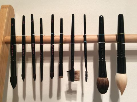this is the best hack for drying your makeup brushes