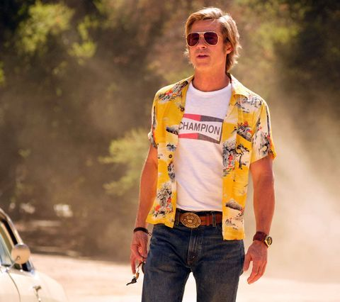 Here's How to Get Brad Pitt's Once Upon a Time...In Hollywood Champion Logo Tee