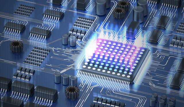 quantum computing concept processor of quantum computer 3d rendered illustration