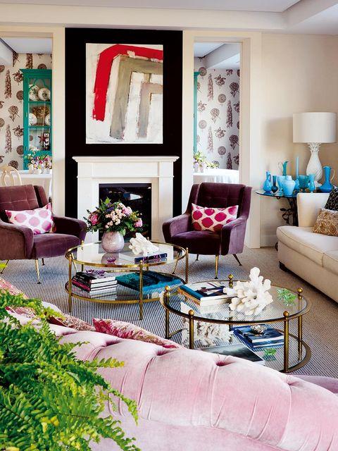 salón decorado por marta de la rica