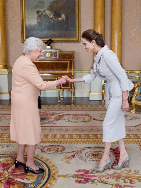 Angelina Jolie meets the Queen