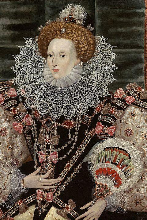 queen elizabeth i, folding fan, renaissance