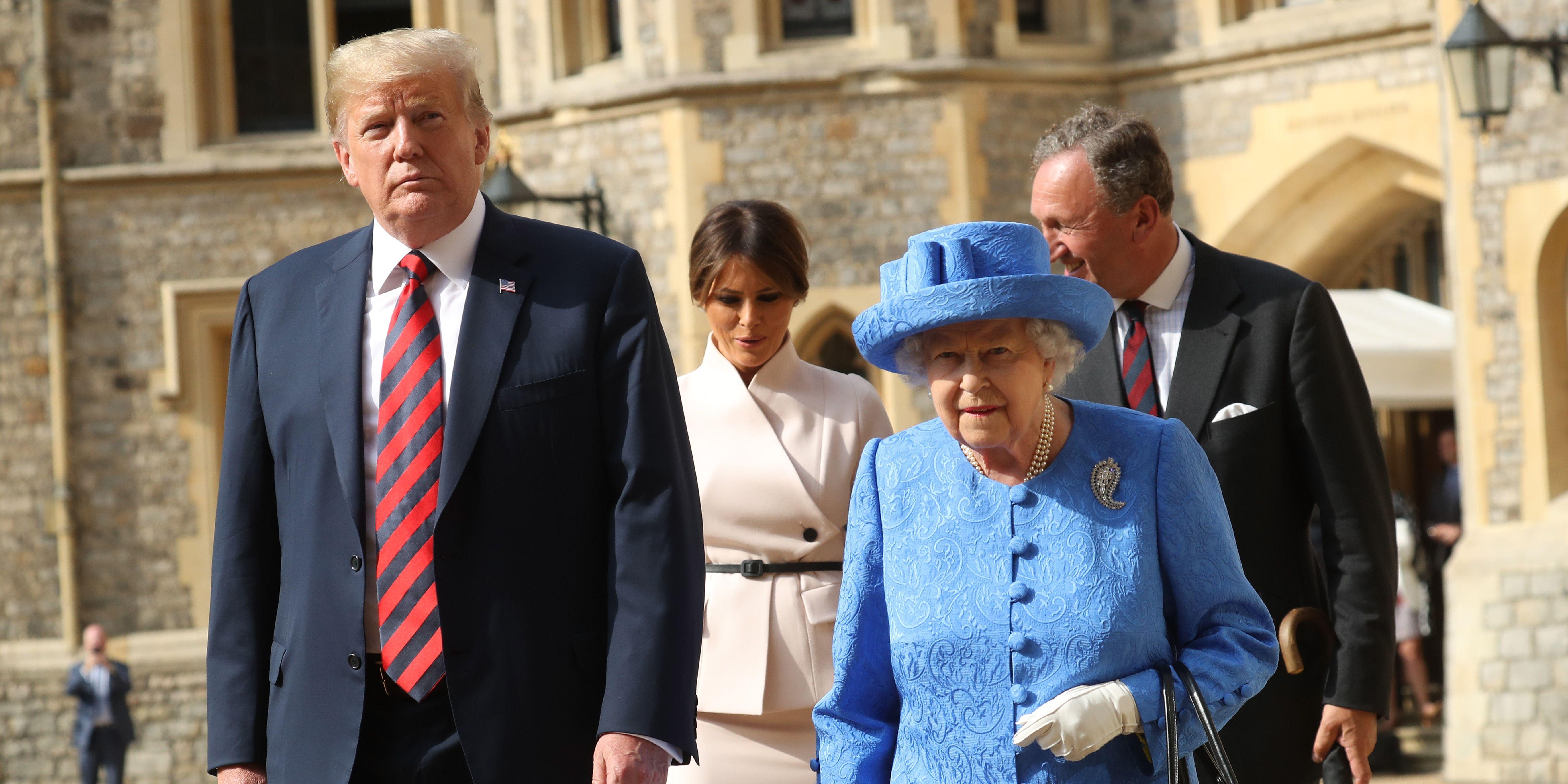 Donald Trump, Melania Trump, Queen Elizabeth II