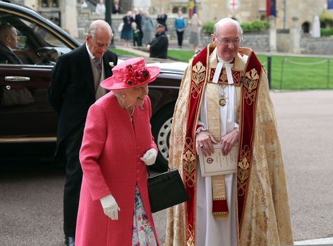 Queen and Duke of Edinburgh at Lady Gabriella Windsor's wedding