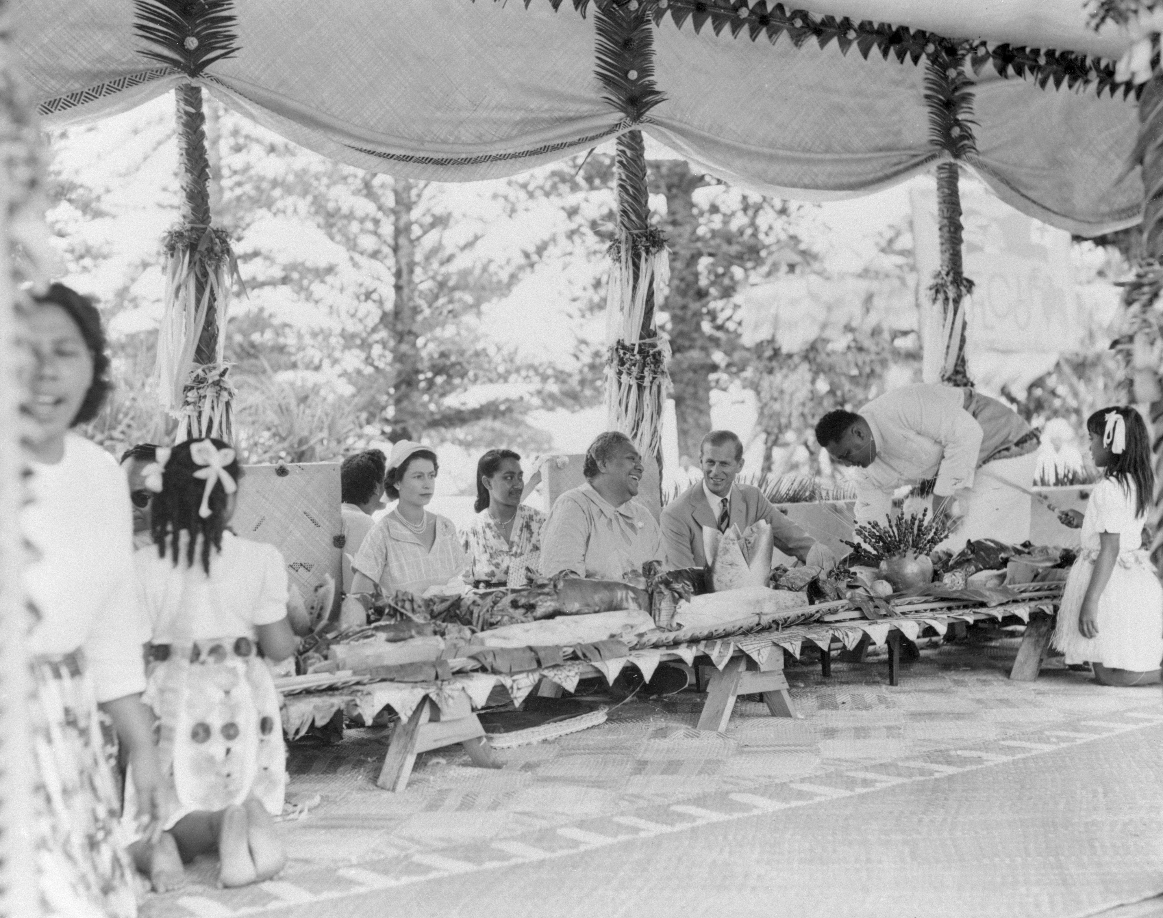 Royalty at Tonga Feast