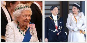 queen elizabeth emperor naruhito empress masako