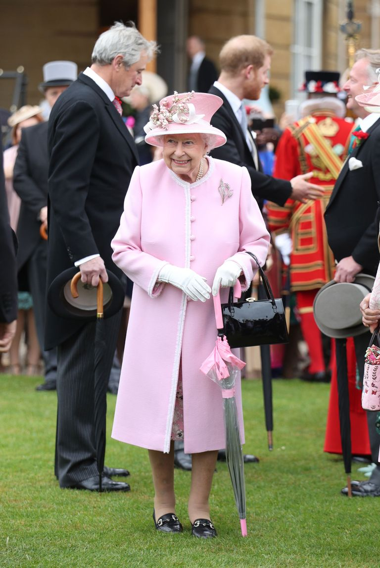 The Queen at today's garden party.